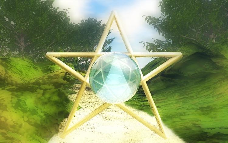 Pentagramm aus Gold