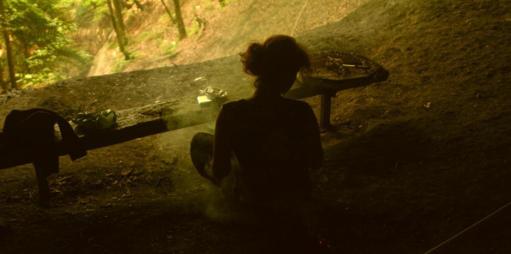 Absmudgen in der Höhle