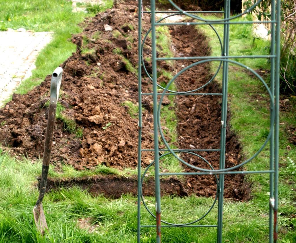 Gartenarbeit Schamanenstube: buddeln