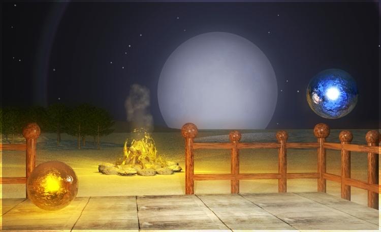 Schamanen Mond
