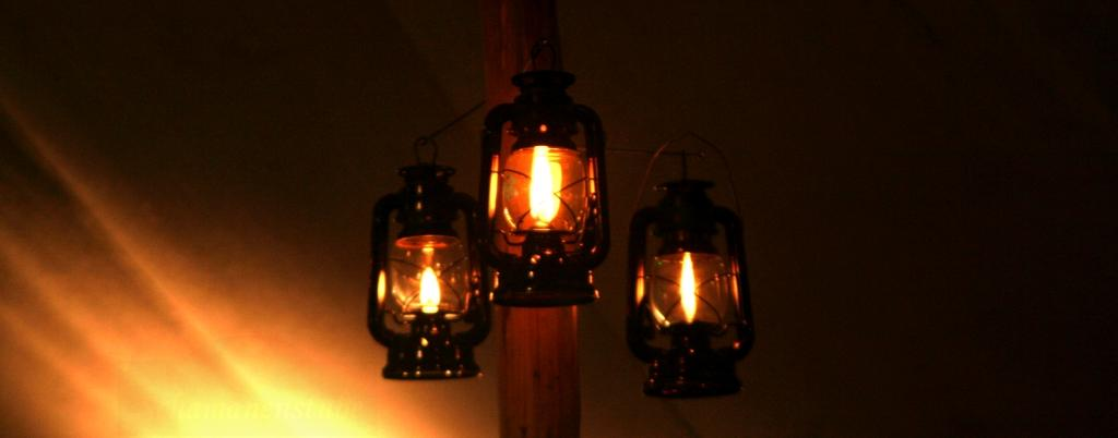 Naturhochzeit Lichter