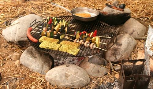 Abendessen im Tipi