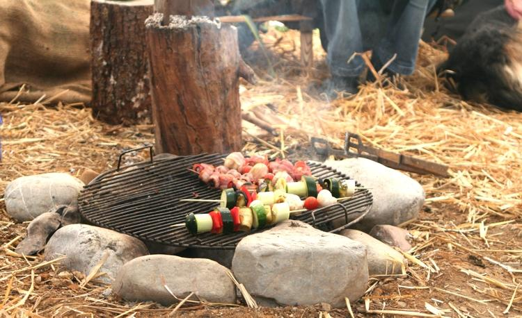 Tipi Lagerfeuer
